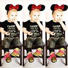 nouveau né Bébé Fille Haut T-shirt+Pantalon Guépard Legging 2pcs Tenues Ensemble