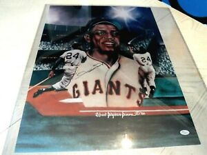 """WILLIE MAYS Signed 18""""x24 Giants Print/Poster/Photo -JSA Authenticated"""
