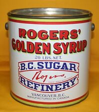 VINTAGE -ROGERS' GOLDEN SYRUP 5 LBS.  B.C. SUGAR  VANCOUVER, CANADA TIN/PAIL