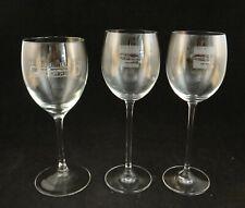 3 Vintage Pebble Beach Wine Stems w/logos