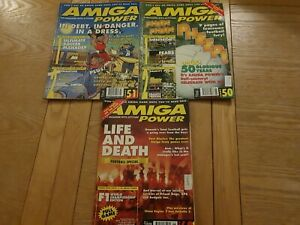 Set of 3 Amiga Power magazines for the Commodore Amiga ,good condition