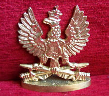 BIG Polish White EAGLE badge of King Jan III Sobieski EAGLE with CROWN & SWORDs