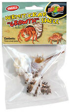 ZOO MED HERMIT CRAB GROWTH SHELL SMALL 3PK ASST COLORS & STYLES FREE SHIP IN USA