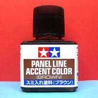 Tamiya #87132 Enamel Panel Line Accent Color (BROWN) [40ml]