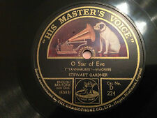 """STEWART GARDNER """"O Star Of Eve""""/""""Even Bravest Hearts May Swell"""" 78rpm 12"""" NMINT"""