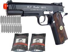 Airsoft Co2 Gas Metal Pistol Gun 500 FPS WG Combat 601 High Power 1911 Package