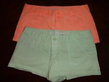Mossimo Supply Co. Women's Short Lot of 2 Peach Mint Green SZ 9 Cotton Spandex