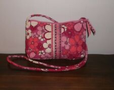 VERA BRADLEY PETITE CROSSBODY BAG ~ Petal Power Pink ~ Rare ~ Perfect Cond.