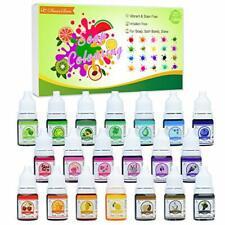 Seifenfarbe Set 20er x 6ml -Flüssig Seifenfarben Färbende Hautverträgliche Farbe