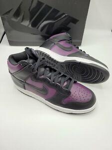 Nike Dunk High X Fragment Design Shoe Trainers Size 9 UK NEW Black Wine