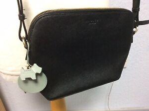 Radley Black Small Leather Bag - Shoulder Strap - With Dog