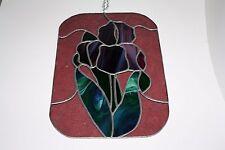 Leaded Stained Glass Purple Iris Sun Catcher