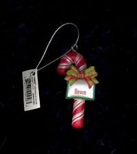 Candy Cane Ornament DEVIN Christmas Stocking Stuffer Holiday Gift Tag Teacher...