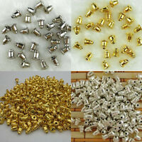 100Pc Gold/Silver Alloy Earring Backs Stoppers Ear Post Nuts Jewelry Findings