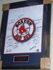 Boston Red Sox Greats Multi Signed FRAMED 16x20 Photo 26 Autos J. Rice TIANT PSA