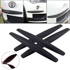 4× Car Bumper Protector Corner Guard Scratch Sticker Carbon Fiber Texture Rubber