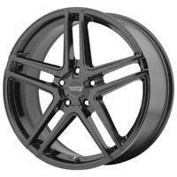 "4-American Racing AR907 17x7.5 5x120 +42mm Gloss Black Wheels Rims 17"" Inch"