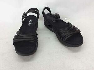 "MBT ""Kaweria"" Black Leather Strappy Sandal 8-8.5"