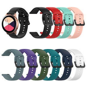 For Samsung Galaxy Watch Active2 Active Pure Color Silicone Replacement Band