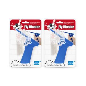 2 Pack Set Blue Fly Blaster Bug Gun Fly Swatter Fly Gun Fly Shooter Grand Fusion