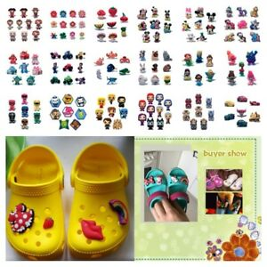1000pcs+ Custom PVC Shoe Charms Ornaments Jibz for Shoes Promotional Kids Gifts
