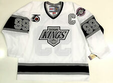 c960572c WAYNE GRETZKY LOS ANGELES KINGS 1991 NHL 75TH CCM VINTAGE WHITE JERSEY NEW