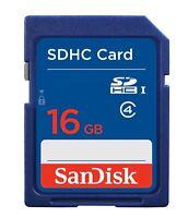 SanDisk 16GB SD SDHC Memory Card Class 4 - 16 GB for Digital Cameras