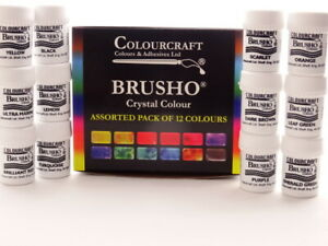Brusho® 12 x 15g Starter set Non Toxic ***+FREE WAX RESIST STICKS!!!***