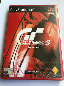 PS2 Gran Turismo 3 A-Spec, UK PAL Red Case, New, Sony Factory Sealed, Flawed