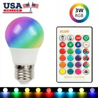 RGB E27 LED Smart Bulb Light Color Changing Dimmable Bluetooth Remote Controller