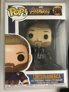 Avengers 3 Infinity War Captain America #288 PVC Figure With Box & Pop Protector