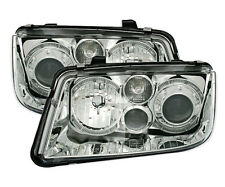 clear CHROME finish Angel Eyes Headlights front lights for VW BORA 98-05