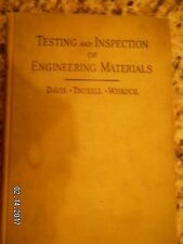 THE TESTING & INSPECTION OF ENGINEERING MATERIALS .BY DAVIS*TROXELL*.1941