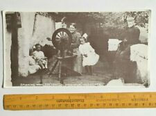 X LARGE IRISH POSTCARD,SPINNING WOOL,INISHOWEN ,CO DONEGAL,IRELAND