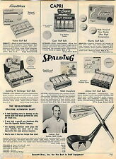 1969 ADVERTISEMENT Golf Clubs Johnny Potts Spalding Ball Al Geiberger Jones