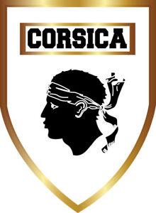 STICKERS Autocollant CORSICA, patch, écusson pare-brise voiture produit CORSE.B