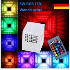 3W RGB LED Wandlampe Wandleuchte Effektlicht Deckenleuchte mit Fernbedienung DE