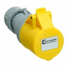 Europa IS323F 110 V 2P+E 32 A Amarillo IP44 en línea Socket 2.5 - 6 mm sección transversal