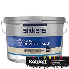 12.5L Sikkens Alpha Rezisto matte Innenfarbe mit niedriger Verschmutzungsneigung