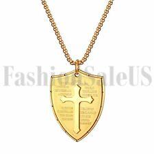 Мужские из нержавеющей стали Библия стих Христа крест глушитель кулон ожерелье цепочка подарок
