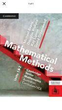 Cambridge Mathematical Methods VCE Unit 1/2 PDF Version
