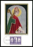 VATICAN MK 1966 POLEN POLAND ST. ADALBERT BISHOP PRAGUE MAXIMUM CARD MC CM bo53
