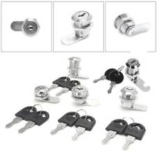 10-30mm Cam Lock Filing Mailbox Post Cabinet Cupboard Drawer Locker w/ 2 Key