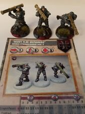 Dust Studios Dust Tactics HEAVY FLAK GRENADIERS. Professionally painted.