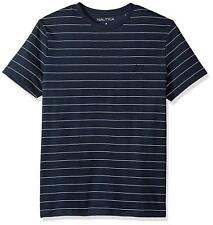 4461f37c6a Nautica Men's Short Sleeve Striped Crew Neck T-Shirt - MEDIUM (Navy/White