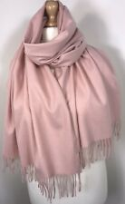 Cashmere Scarf Pashmina Pink Brushed Warm Soft Feel Cosy Oversized Long NEW