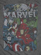 T-SHIRT L LARGE MARVEL COMICS SUPER HERO COMIC BOOKS THOR CAPTAIN AMERICA SHIRT