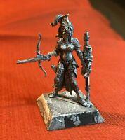 Rackham Confrontation Cynwall Elf Azure Hunter drow mini d&d female '03 metal !!