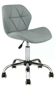 Grey Leather Chair for Make up Room Home Office or Hair Salon