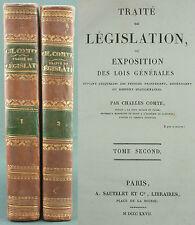 COMTE - TRAITE DE LEGISLATION - EO 1826 SAUTELET - Economie sociale Liberalisme